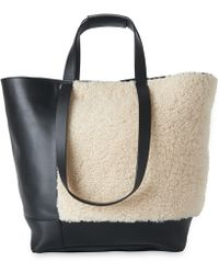 Whistles Hampson Shearling Tote Lyst