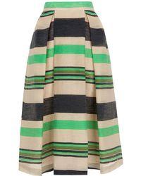 Whistles - Miriam Stripe Midi Skirt - Lyst