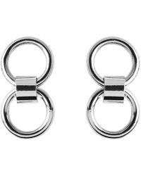 Whistles - Two Circle Mini Stud Earring - Lyst