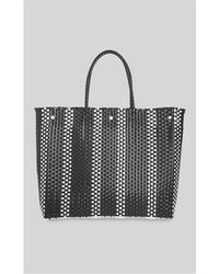 Whistles - Striped Plastic Weave Tote - Lyst