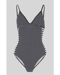 Whistles - Santiago Stripe Swimsuit - Lyst