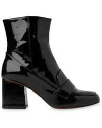 Whistles | Ambrose Patent Loafer Boot | Lyst