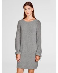 White + Warren - Cashmere Tied Cuff Dress - Lyst