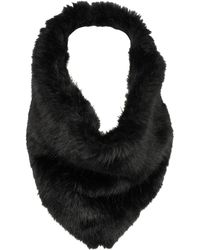 Wilsons Leather - Triangle Infinity Faux-fur Scarf - Lyst
