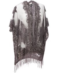 Wilsons Leather - Paisley Flowy Wrap W/ Embroidered Detail - Lyst