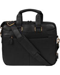 Wilsons Leather - Top Zip Brief W/ Brass Hardware - Lyst