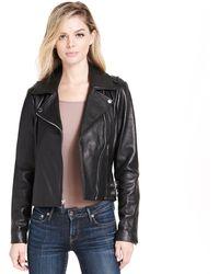 Wilsons Leather - Designer Brand Asymmetrical Genuine Leather Jacket W/ Side-belting - Lyst