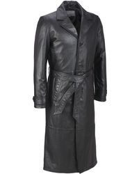 Wilsons Leather - Classic Leather Trench Coat - Lyst
