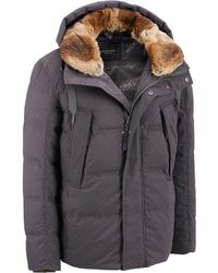 Wilsons Leather - Marc New York Down Jacket W/ Rabbit Fur Collar - Lyst