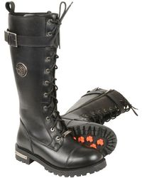 """Wilsons Leather - Milwaukee Leather 14"""" Lace To Toe High Rise Boot W/ Calf Buckle - Lyst"""