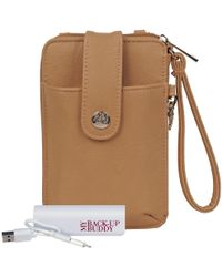 Wilsons Leather - Ready Set Go Crossbody Faux-leather Wallet - Lyst