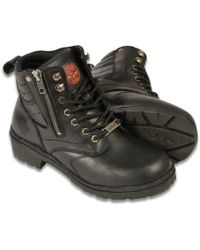 Wilsons Leather - Milwaukee Leather Side Zip Plain Toe Boot - Lyst