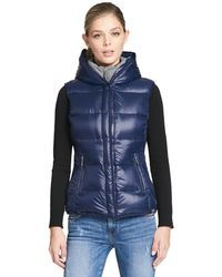 Wilsons Leather - Web Buster Performance Hooded Puffy Vest W/ Knit Inset - Lyst