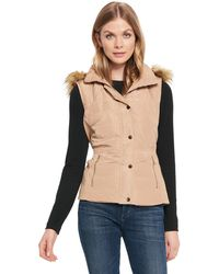 Wilsons Leather - Web Buster Coalition La Quilted Vest W/ Removable Faux-fur Trim Hood - Lyst