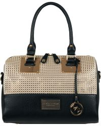 Wilsons Leather - Marc New York Perforated Faux-leather Satchel W/gold Hardware - Lyst
