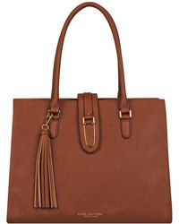 Wilsons Leather - Marc New York Saffiano Leather Tote W/ Flap Over Buckle - Lyst