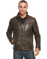 Wilsons Leather - Vintage Genuine Leather Jacket W/ Seam Detail - Lyst