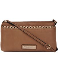 1d3e68ceb Wilsons Leather - Marc New York Faux-leather Crossbody W  Scallop Eyelet  Detail -