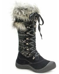 Wilsons Leather - Muk Luks® Faux Fur Trim Cold Weather Laced Boot - Lyst