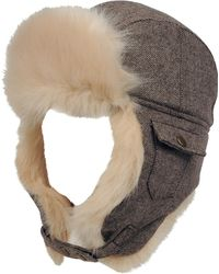Wilsons Leather - Marc New York Tweed Trapper Hat W/ Faux-fur - Lyst