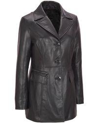 Wilsons Leather - Button Front Lamb Jacket W/ Zipper Detail Pockets - Lyst