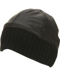 Wilsons Leather - Leather Skull Cap W/ Black Knit - Lyst