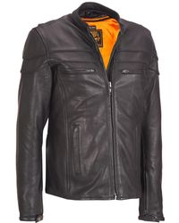 Wilsons Leather - Web Buster Milwaukee Leather Cycle Jacket W/ Reflector Chest - Lyst