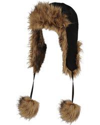 Wilsons Leather - Satin Trapper W/ Faux-fur Trim - Lyst