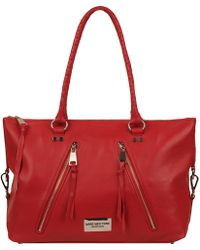 Wilsons Leather - Marc New York Leather Tote W/ Front Asymmetrical Zip Pockets - Lyst