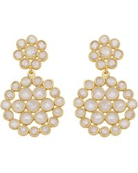 Carousel Jewels - Sliced Crystal Double Circle Earrings - Lyst