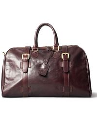 Maxwell Scott Bags - Luxury Italian Leather Medium Travel Bag Flero M Dark Chocolate Brown - Lyst