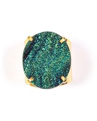 Tiana Jewel - Steffy Blue Metallic Druzy Ring - Lyst