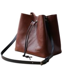 dorayaky - Elsa Brown Leather Bag - Lyst