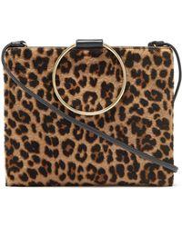 Thacker NYC - Le Pouch In Black   Leopard Shearling - Lyst d86277cb145db