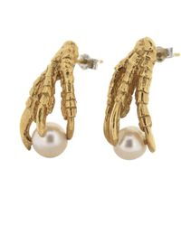 Tessa Metcalfe - Gold Pearl Of London Earrings - Lyst