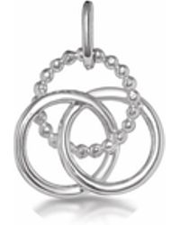 One and One Studio - Sterling Silver Triple Ring Pendant - Lyst