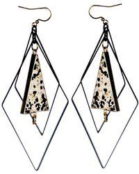 Tiana Jewel - Tempest Green Geometric Earrings - Lyst