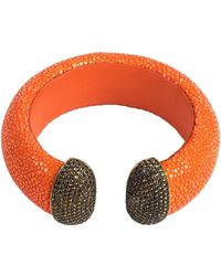 Latelita London Stingray Cuff With A Bright Orange Stone KxkKd4F5P