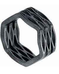 Neola - Onda Oxidiesed Sterling Sterling Silver Ring - Lyst
