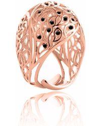 Sonal Bhaskaran - Shikhara Rose Gold Dome Ring Black Spinel - Lyst