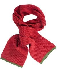 40 Colori - Brick Green Small Ribbed Wool & Cashmere Scarf - Lyst