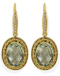 Vintouch Italy - Minerva Peridot Earrings - Lyst