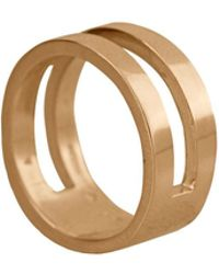 Edge Only - Parallel Ring In 14ct Gold - Lyst