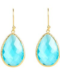 LÁTELITA London - Single Drop Earring Gold Blue Topaz Hydro - Lyst