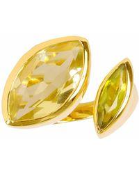 Neola - Celestine Gold Cocktail Ring Peridot & Citrine - Lyst