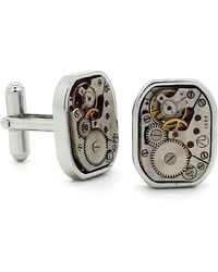 LC COLLECTION - Vintage Silver Watch Movement Cufflinks - Lyst