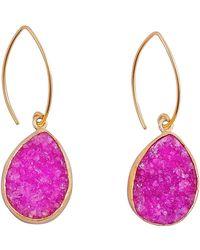 Magpie Rose - Hot Pink Druzy Earrings - Lyst