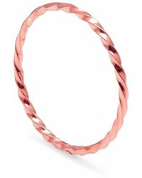 Myia Bonner - Rose Gold Skinny Twist Stacking Ring - Lyst