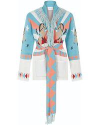 Hayley Menzies Short Sunrise Rodeo Cardi-coat Turquoise