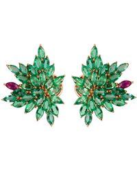 Joana Salazar - Emerald Blossom Petite Earrings - Lyst